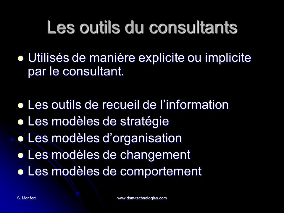 Les outils du consultants