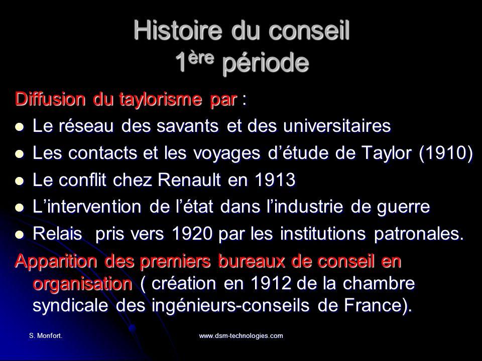 Histoire du conseil 1ère période