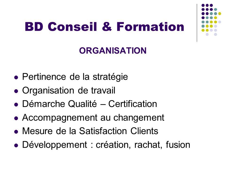 BD Conseil & Formation Pertinence de la stratégie