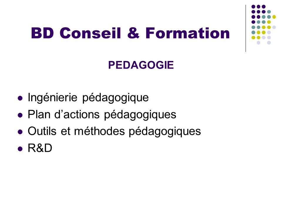 BD Conseil & Formation Ingénierie pédagogique