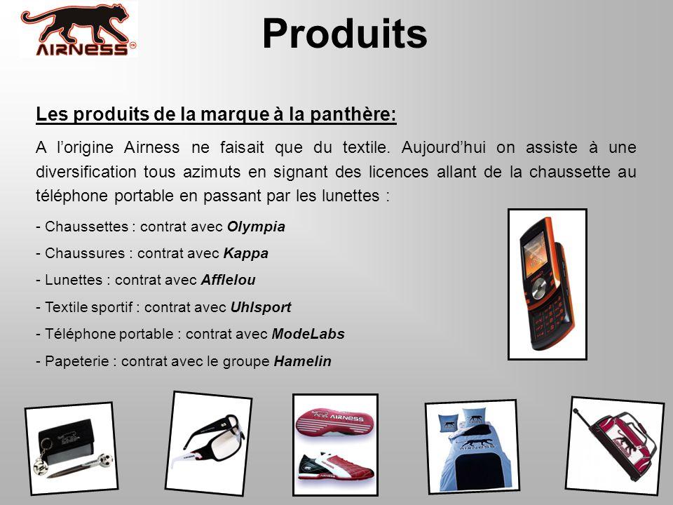 Produits Les produits de la marque à la panthère: