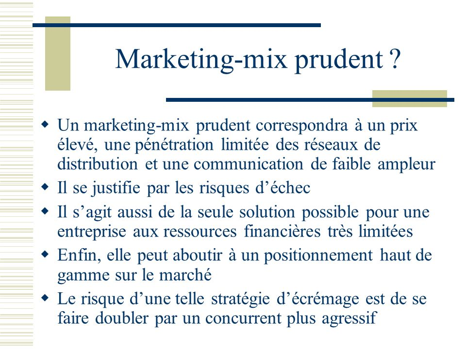Marketing-mix prudent