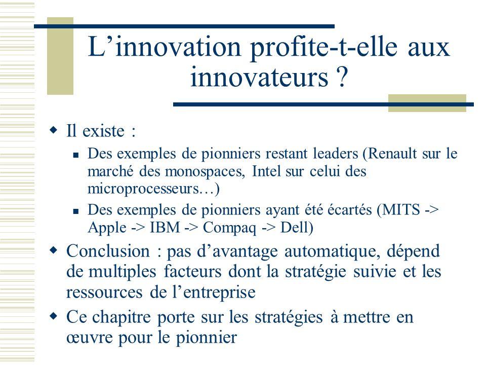 L'innovation profite-t-elle aux innovateurs