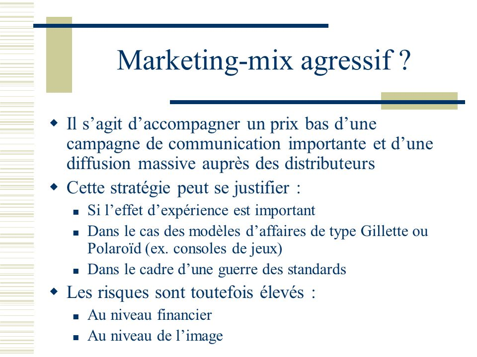Marketing-mix agressif