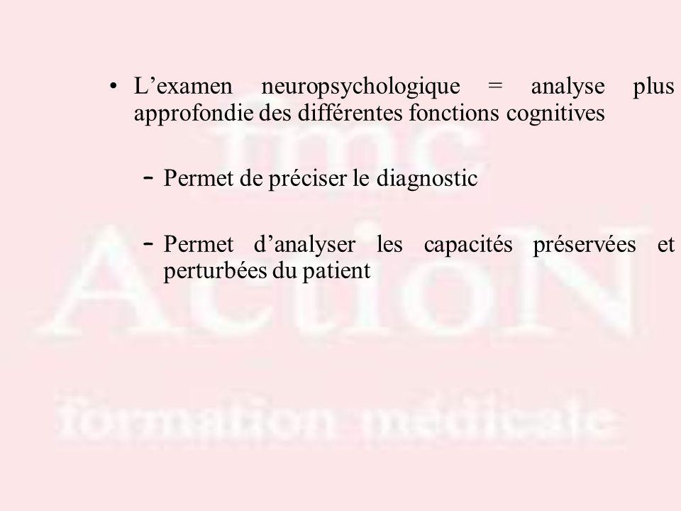 Permet de préciser le diagnostic