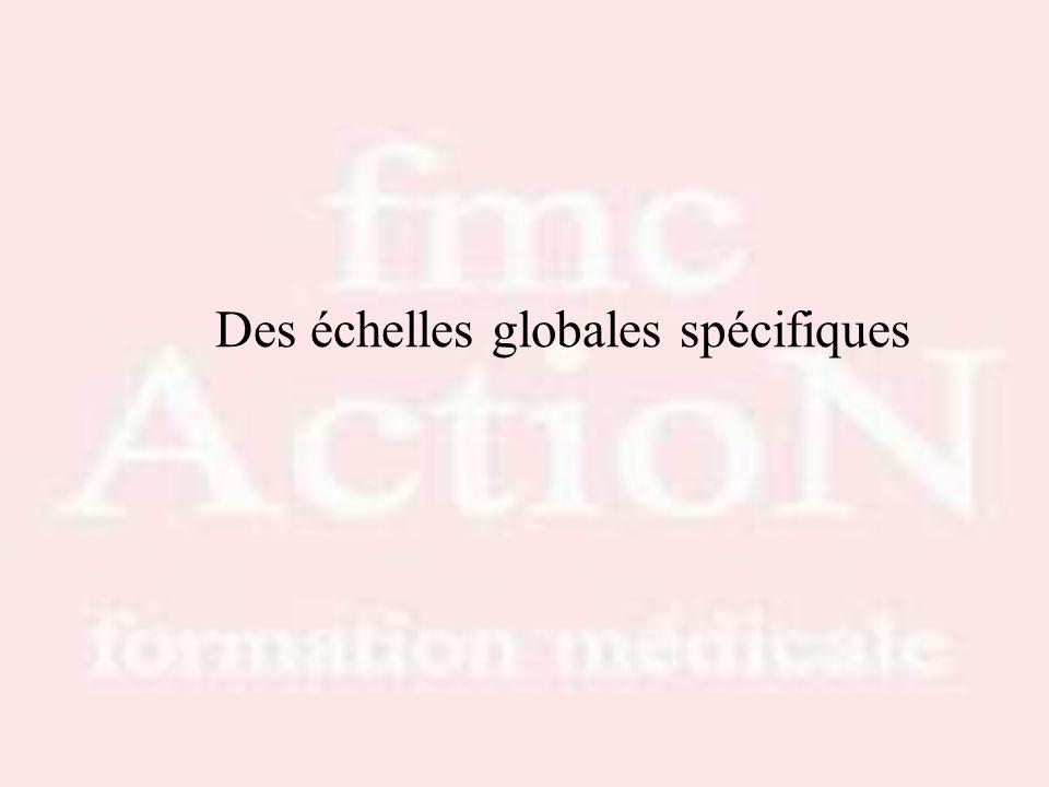 Drs S.LOTTON & R.THIRION Des échelles globales spécifiques