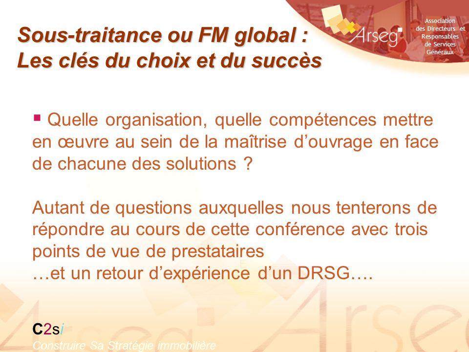 Sous-traitance ou FM global : Les clés du choix et du succès