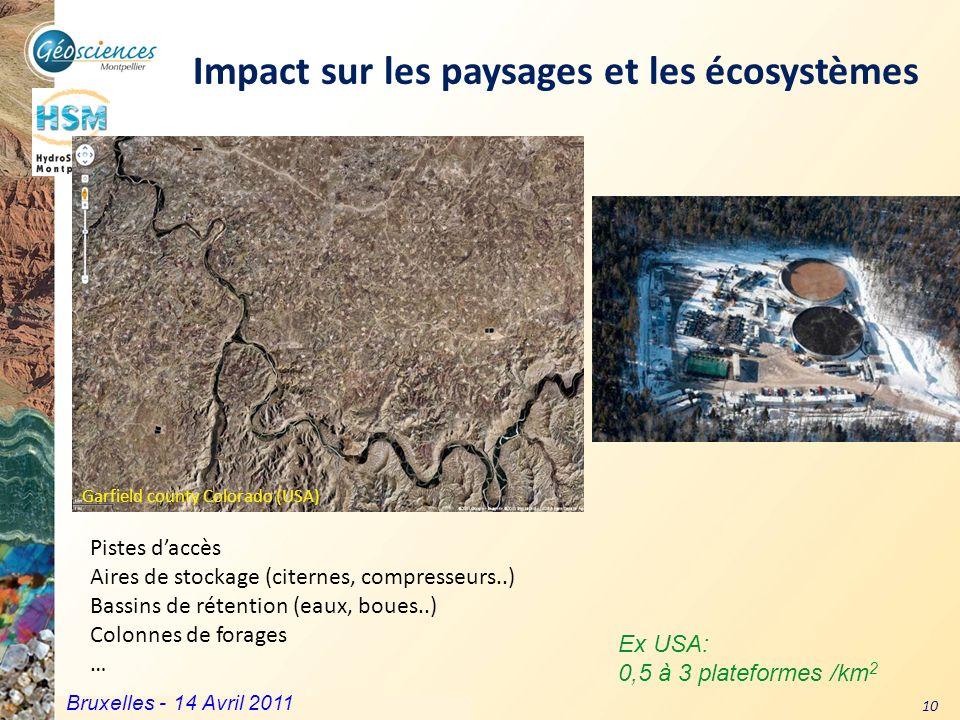 Impact sur les paysages et les écosystèmes