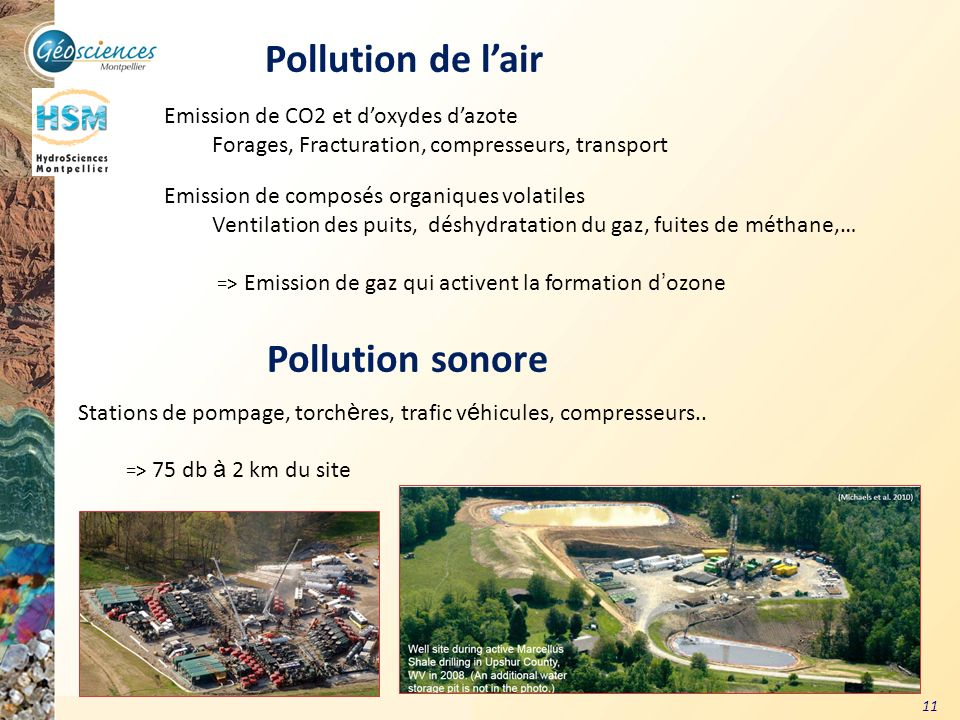 Pollution de l'air Pollution sonore