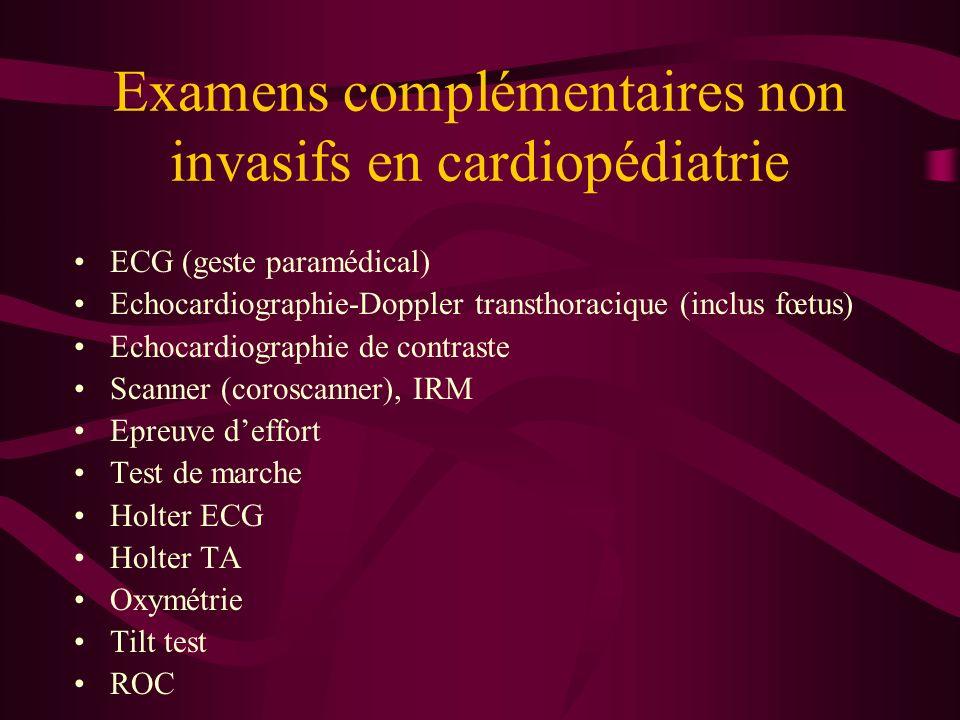 Examens complémentaires non invasifs en cardiopédiatrie