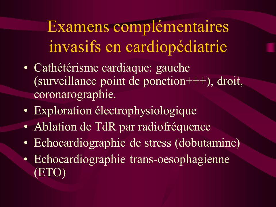 Examens complémentaires invasifs en cardiopédiatrie