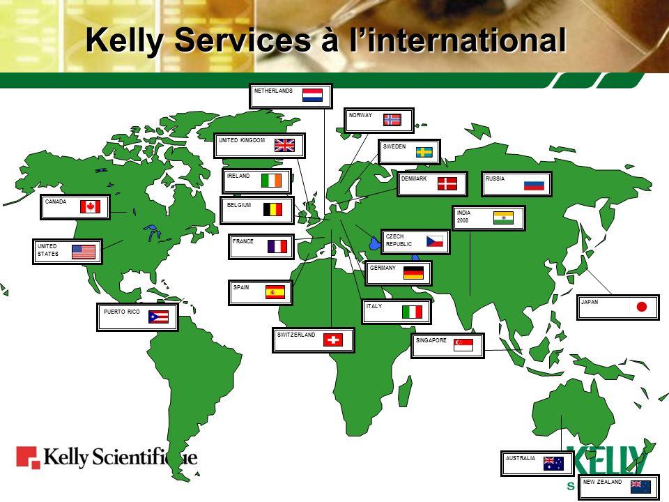 Kelly Services à l'international