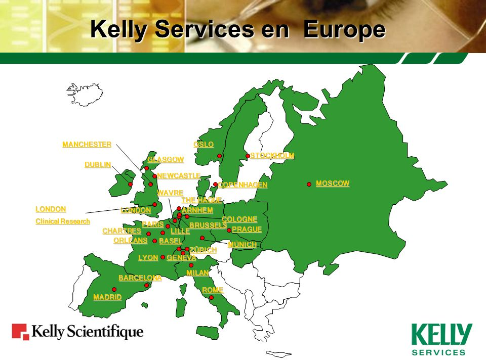Kelly Services en Europe