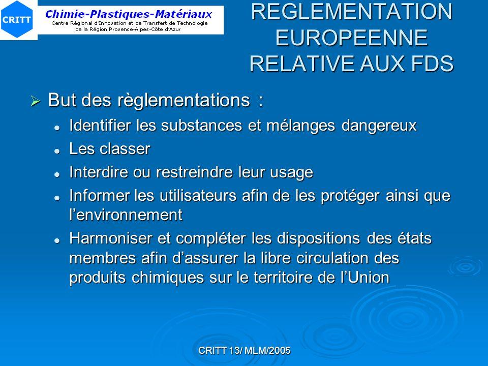 REGLEMENTATION EUROPEENNE RELATIVE AUX FDS