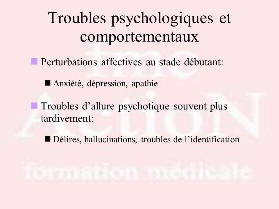 Troubles psychologiques et comportementaux