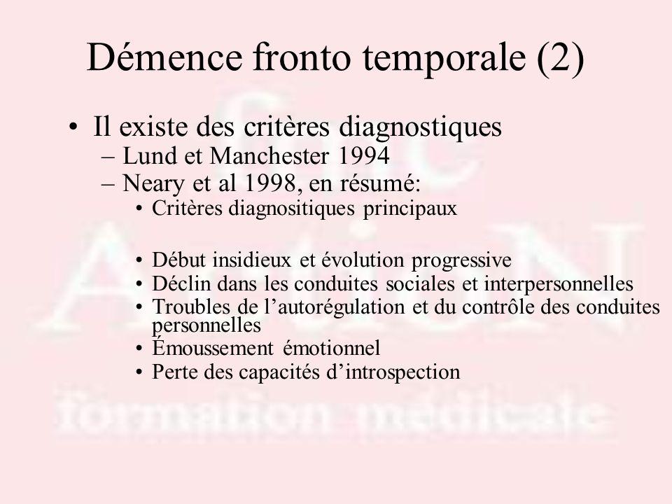 Démence fronto temporale (2)