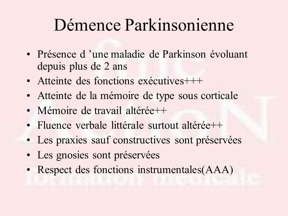 Démence Parkinsonienne