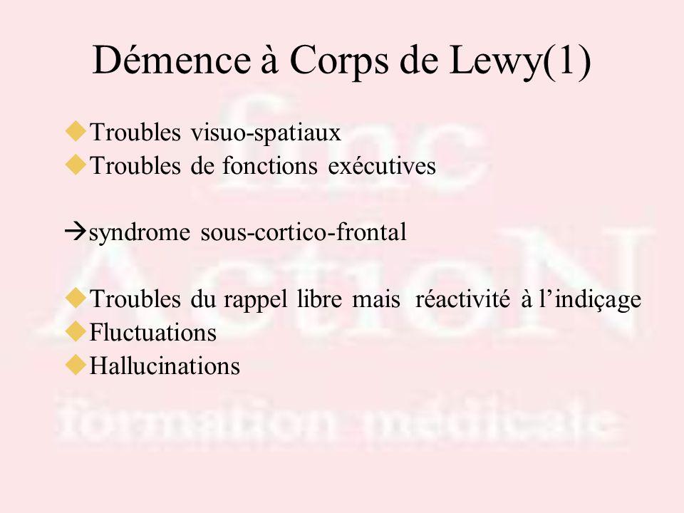 Démence à Corps de Lewy(1)