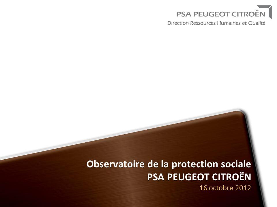Novembre 2009 Observatoire de la protection sociale PSA PEUGEOT CITROËN 16 octobre 2012.