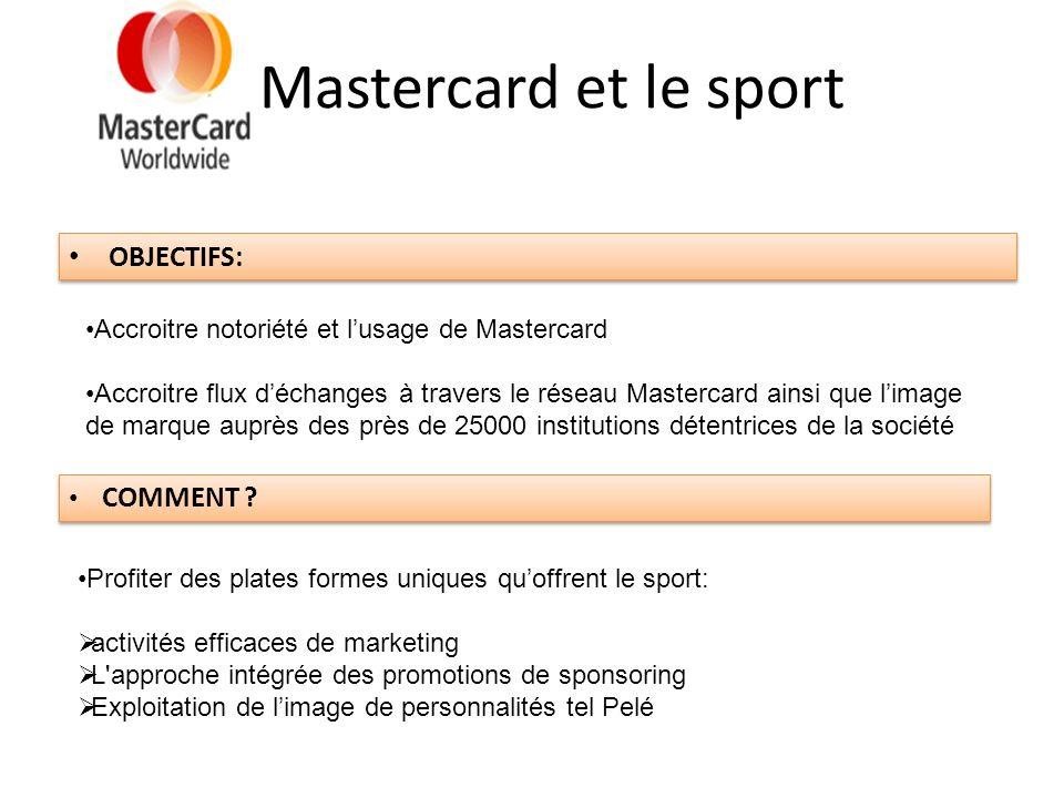 Mastercard et le sport OBJECTIFS: