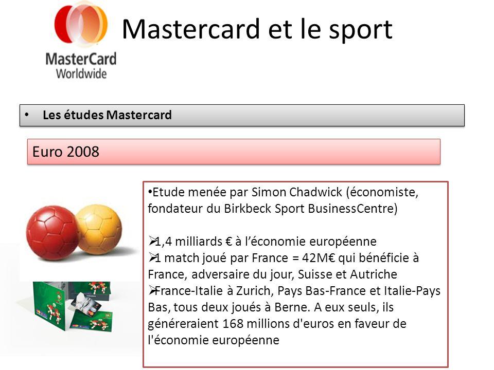 Mastercard et le sport Euro 2008 Les études Mastercard