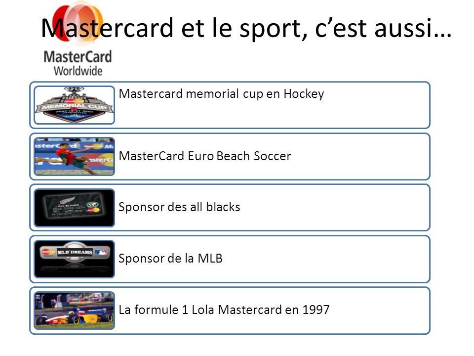 Mastercard et le sport, c'est aussi…