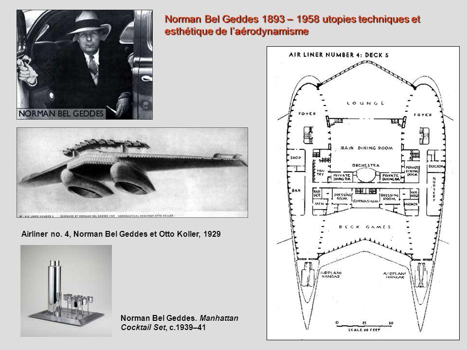 Norman Bel Geddes 1893 – 1958 utopies techniques et esthétique de l'aérodynamisme