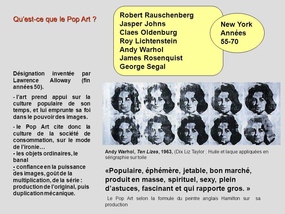Qu'est-ce que le Pop Art New York Années 55-70