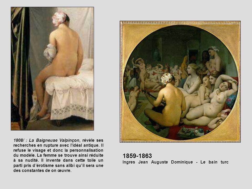 Ingres Jean Auguste Dominique - Le bain turc 1859-1863, Toile sur bois, 108x108, 1862, musée du Louvre, Paris