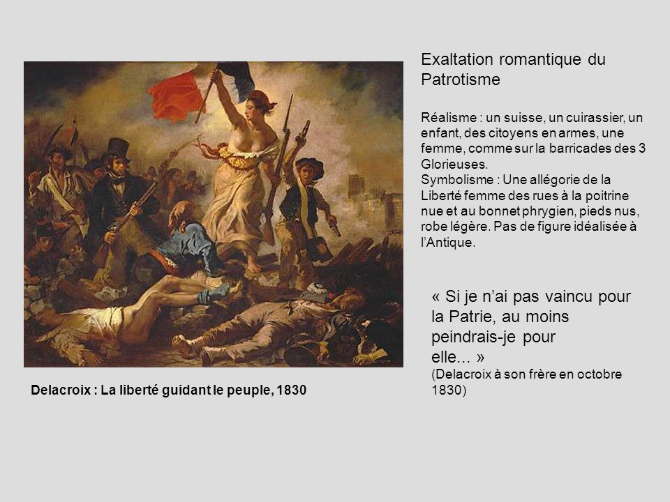 Exaltation romantique du Patrotisme