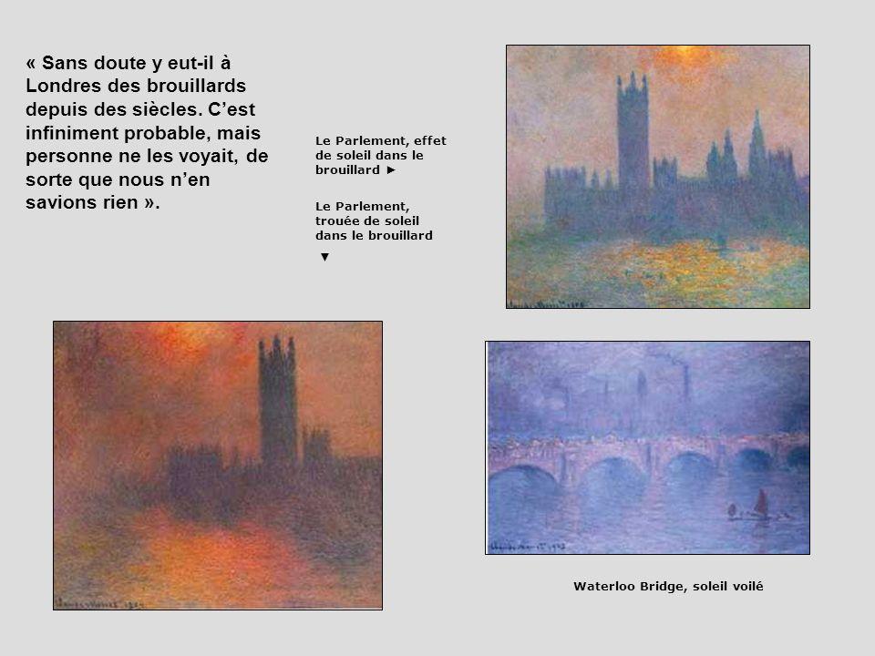 « Sans doute y eut-il à Londres des brouillards depuis des siècles