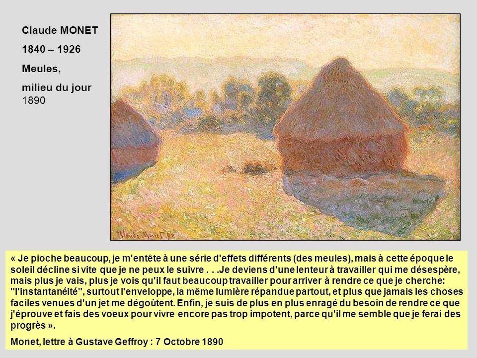 Claude MONET 1840 – 1926 Meules, milieu du jour 1890