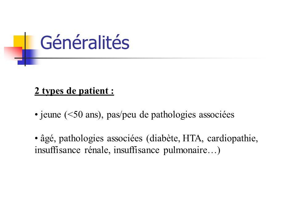 Généralités 2 types de patient :