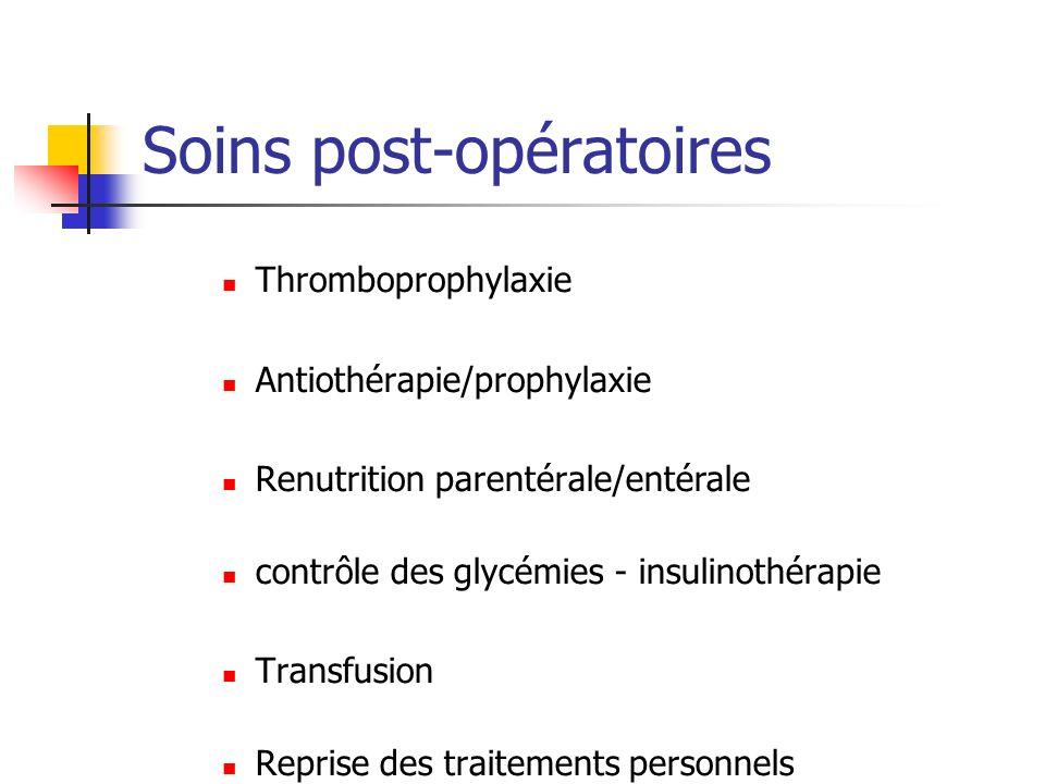 Soins post-opératoires
