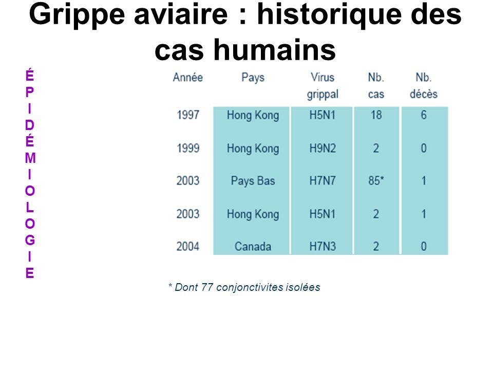 Grippe aviaire : historique des cas humains