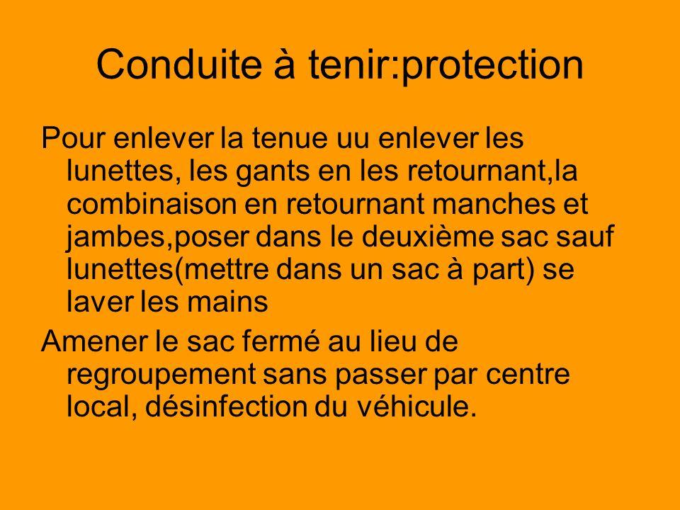 Conduite à tenir:protection