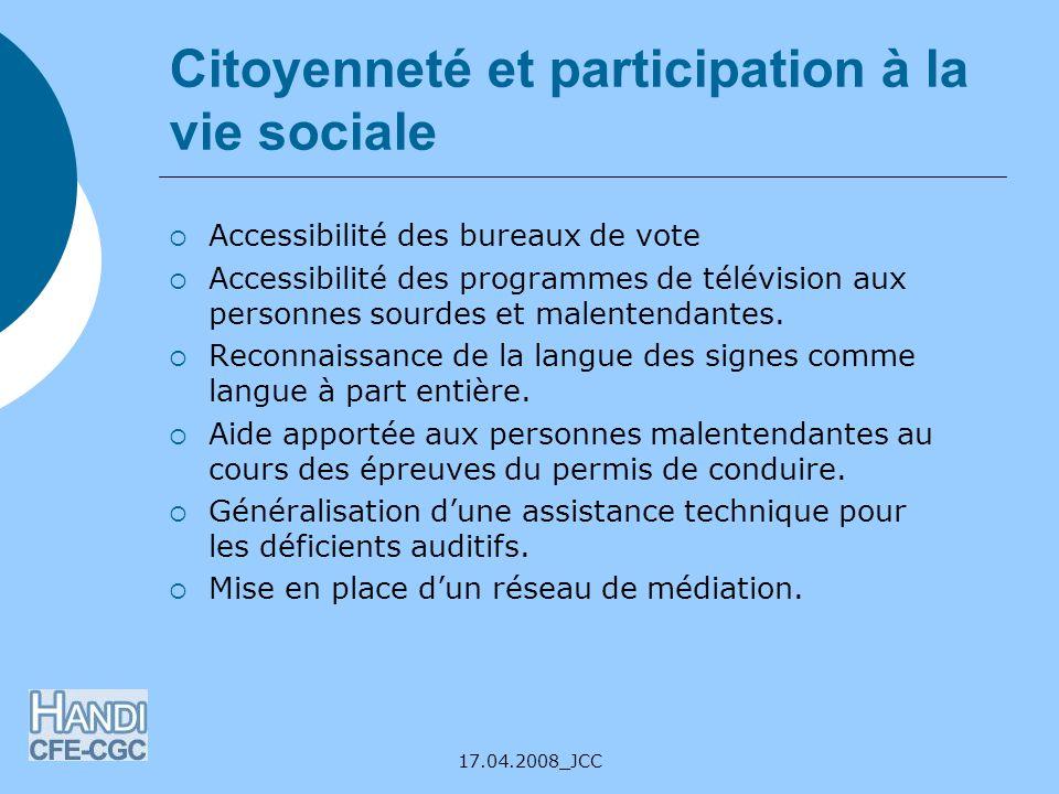 Citoyenneté et participation à la vie sociale