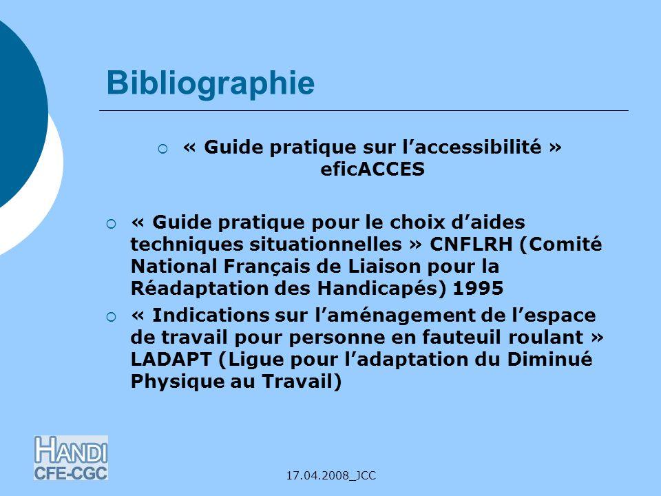 « Guide pratique sur l'accessibilité » eficACCES
