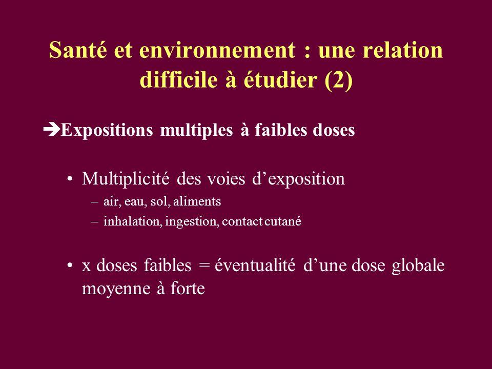 Santé et environnement : une relation difficile à étudier (2)