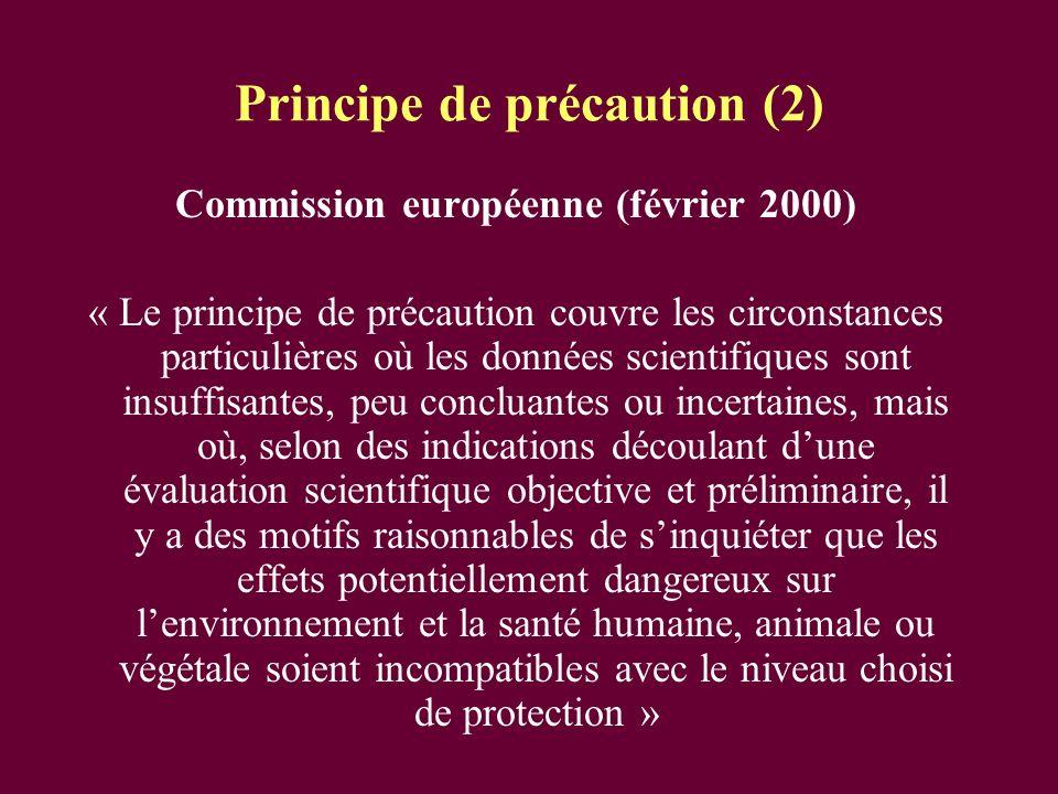 Principe de précaution (2)