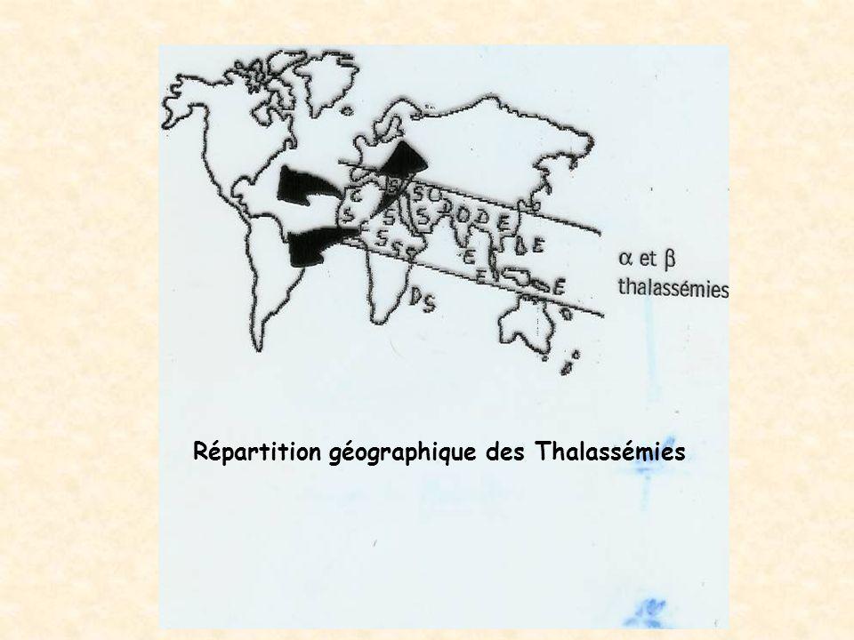 Répartition géographique des Thalassémies