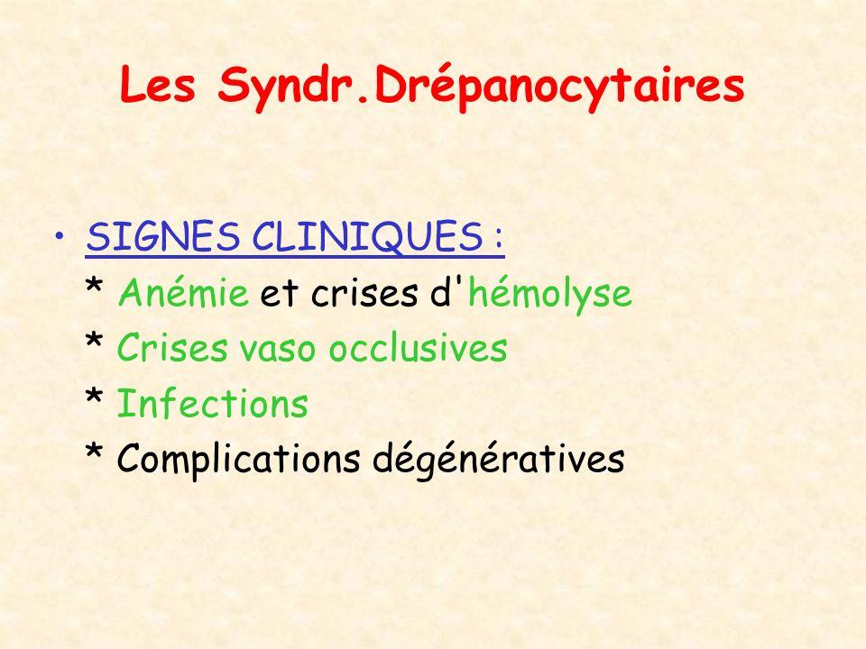 Les Syndr.Drépanocytaires