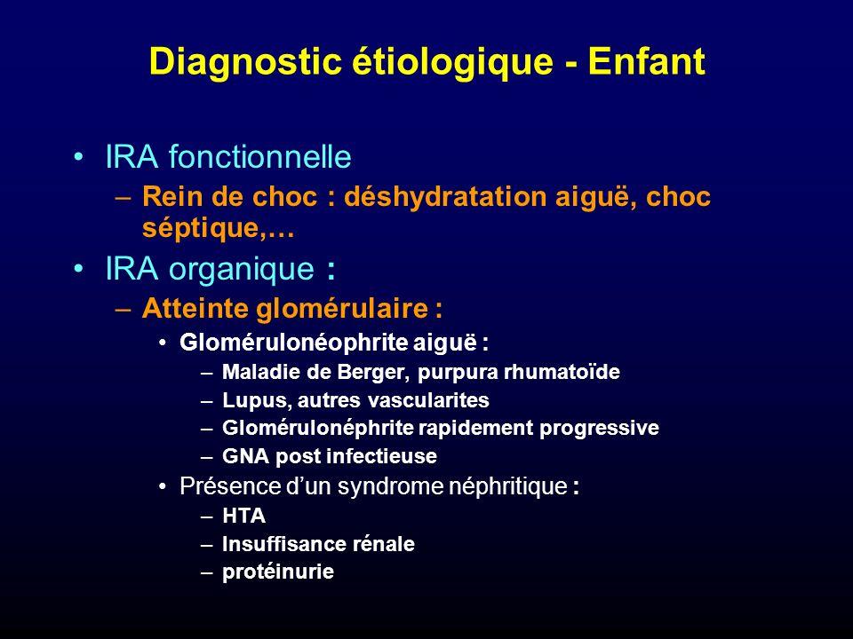 Diagnostic étiologique - Enfant