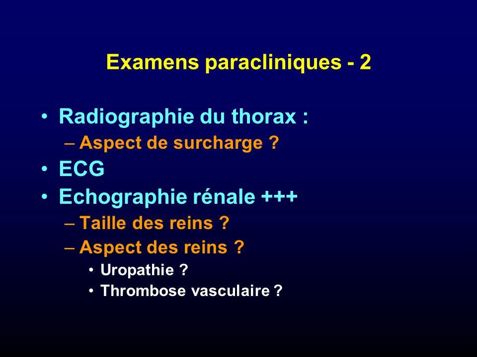Examens paracliniques - 2
