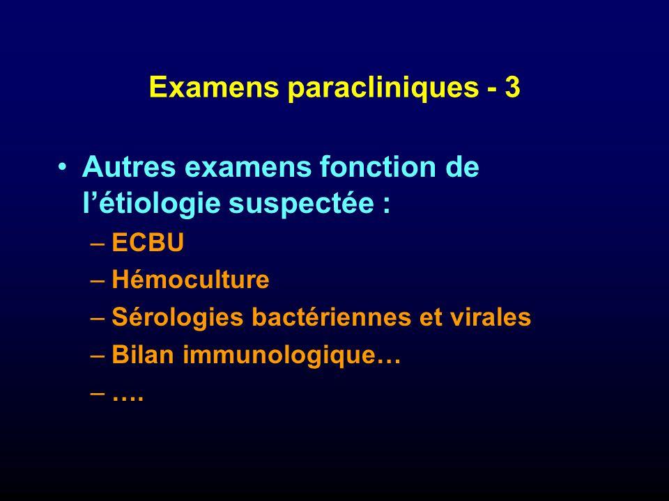 Examens paracliniques - 3