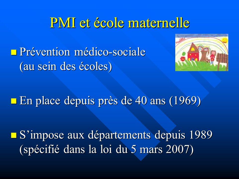 PMI et école maternelle