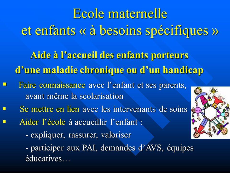 Ecole maternelle et enfants « à besoins spécifiques »