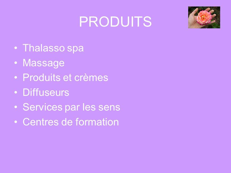 PRODUITS Thalasso spa Massage Produits et crèmes Diffuseurs