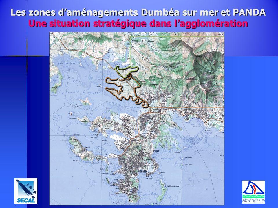 Les zones d'aménagements Dumbéa sur mer et PANDA Une situation stratégique dans l'agglomération
