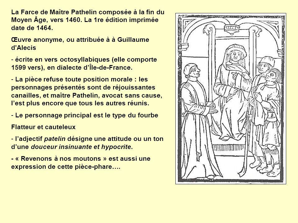 Œuvre anonyme, ou attribuée à à Guillaume d Alecis